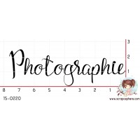 TAMPON PHOTOGRAPHIE CALLIGRAPHIE par Lily Fairy