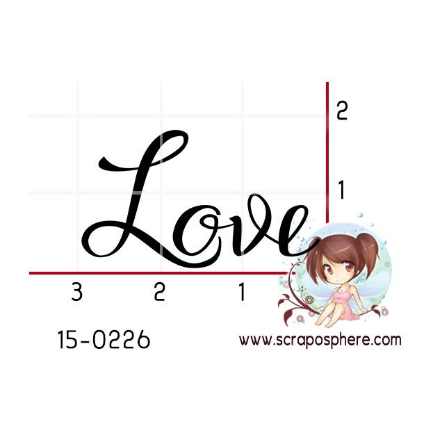 TAMPON LOVE CALLIGRAPHIE par Lily Fairy
