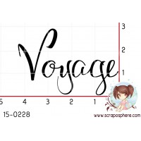 TAMPON VOYAGE CALLIGRAPHIE par Lily Fairy