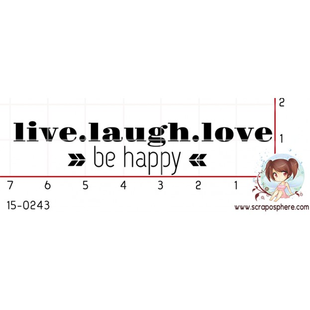 TAMPON LIVE LAUGH LOVE par Binka