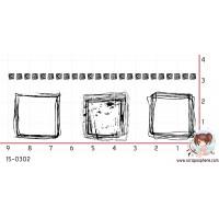 4 TAMPONS GRUNGE CARRES par Crearel