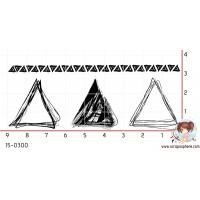 4 TAMPONS GRUNGE TRIANGLES par Crearel