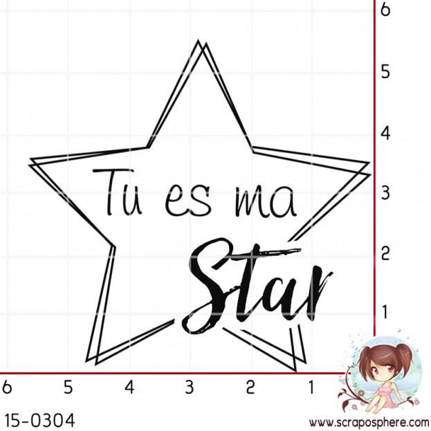 TAMPON ETOILE TU ES MA STAR par Lily Fairy