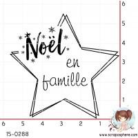 TAMPON ETOILE NOEL EN FAMILLE par Lily Fairy