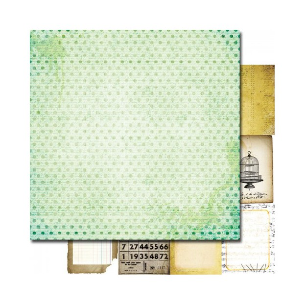 1 FEUILLE CARDSTOCK 30X30 STICKY NOTES LOST AND FOUND - 7dots studio