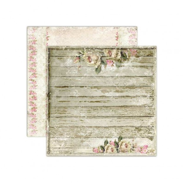 1 FEUILLE CARDSTOCK 30X30 ON THE PORCH - HOUSE OF ROSES - LEMONCFAT