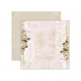 1 FEUILLE CARDSTOCK 30X30 TEA ROSES - HOUSE OF ROSES - LEMONCRAFT