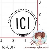 TAMPON CERCLE ICI par Lily Fairy