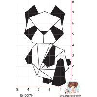 TAMPON ORIGAMI PANDA par Lily Fairy