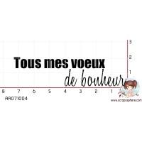 TAMPON TOUS MES VOEUX DE BONHEUR