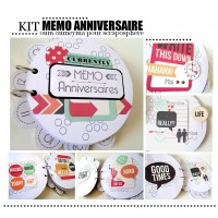 KIT MEMO ANNIVERSAIRE (version Oum oumeyma)