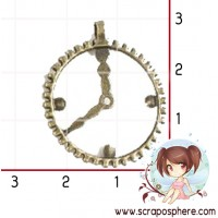 EMBELLISSEMENT (steampunk) HORLOGE ANTIQUE BRONZE