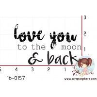 TAMPON LOVE YOU TO THE MOON par Créarel