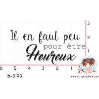 TAMPON IL EN FAUT PEU POUR ETRE HEUREUX par Créarel