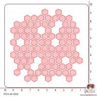 POCHOIR SCRAPOSPHERE - FOND NID D ABEILLE (moyen) par Tiphanie