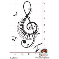 TAMPON GRANDE CLE DE SOL PIANO MUSIQUE