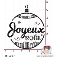 TAMPON BOULE JOYEUX NOEL par Lily Fairy
