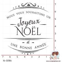 TAMPON JOYEUX NOEL ET BONNE ANNEE par Lily Fairy