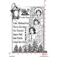 TAMPON JOYEUX NOEL VINTAGE par Lily Fairy