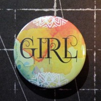 BADGE 3.8 cm - GIRL par Lily Fairy