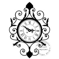 TAMPON HORLOGE ANTIQUE