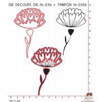 DIE SCRAPOSPHERE FLEUR ET TIGE + TAMPON 16-0326