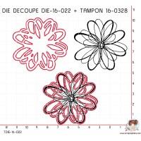 DIE SCRAPOSPHERE FLEUR + TAMPON 16-0328