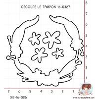 DIE SCRAPOSPHERE COURONNE DE FLEURS (découpe le tampon 16-0327)