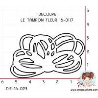 DIE SCRAPOSPHERE FLEUR (découpe le tampon 16-0117)