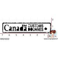 TAMPON CACHET CUSTOMS DOUANES CANADA