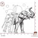 TAMPON ELEPHANT ORIGAMI par Lily Fairy