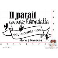 TAMPON IL PARAIT QU UNE HIRONDELLE par Nad Mathieu