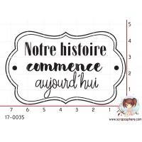 TAMPON NOTRE HISTOIRE COMMENCE AUJOURD HUI par Nad Mathieu