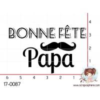 TAMPON BONNE FETE PAPA (moustache) par Lily Fairy