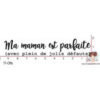 TAMPON MA MAMAN EST PARFAITE par Nad Mathieu