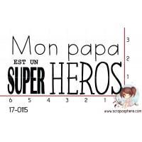 TAMPON MON PAPA EST UN SUPER HEROS par Nad Mathieu