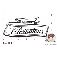 TAMPON BANNIERE FELICITATIONS par Lily Fairy