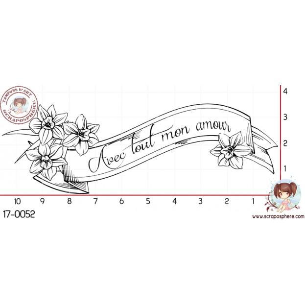 TAMPON BANNIERE AVEC TOUT MON AMOUR par Lily Fairy