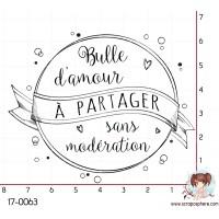 TAMPON BULLE D AMOUR A PARTAGER par Lily Fairy