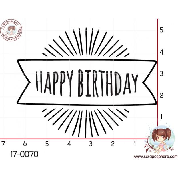 TAMPON HAPPY BIRTHDAY (rayon) par Lily Fairy