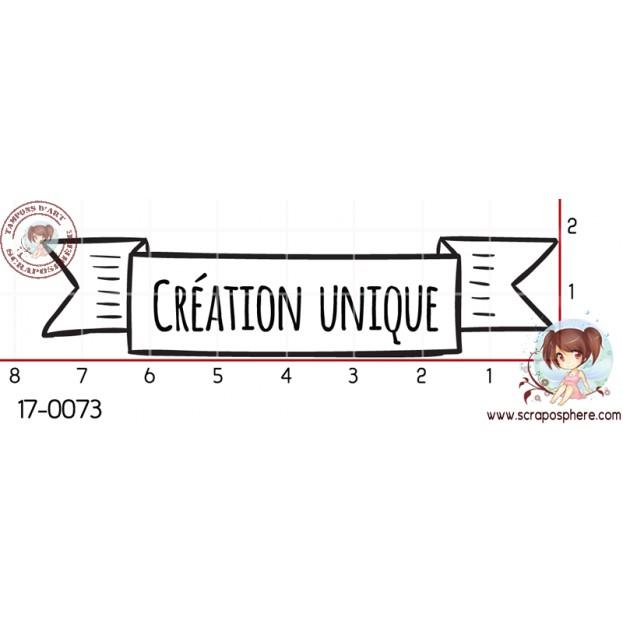 TAMPON BANNIERE CREATION UNIQUE par Lily Fairy