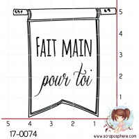 TAMPON FAIT MAIN DRAPEAU par Lily Fairy