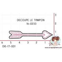 DIE SCRAPOSPHERE - FLECHE COEUR (découpe le tampon 16-0233)
