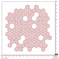 POCHOIR SCRAPOSPHERE - FOND NID D ABEILLE (grand) par Tiphanie