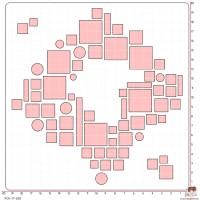 POCHOIR SCRAPOSPHERE - FOND GEOMETRIQUE (carrés) par Victor