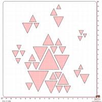 POCHOIR SCRAPOSPHERE - FOND GEOMETRIQUE (triangles) par Victor