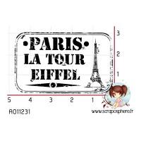 TAMPON CACHET PARIS LA TOUR EIFFEL