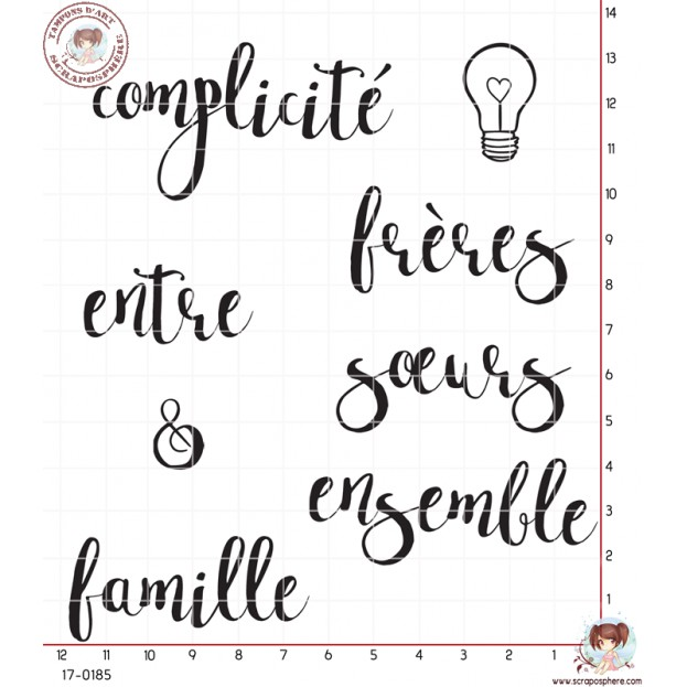 8 TAMPONS FRATRIE FRERE SOEUR FAMILLE par Lily Fairy
