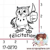 TAMPON FELICITATIONS HIBOU