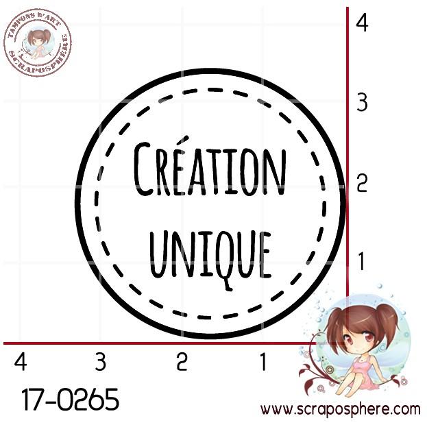 TAMPON CERCLE (blanc) CREATION UNIQUE par Lily Fairy